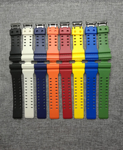 The latest rubber 16MM strap strap Apply to for Casio GA-100 GA-100 GA-120 GA-120 GD-100 GD-120 GA-100C watch accessories(China)