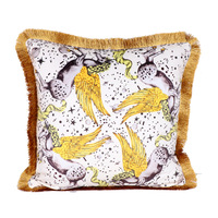 Luxury Gold Velvet Tassel Cushion Cover Soft Double Printed 45x45cm Pillow Cover Pillowcase Home Decorative Sofa Throw Pillows