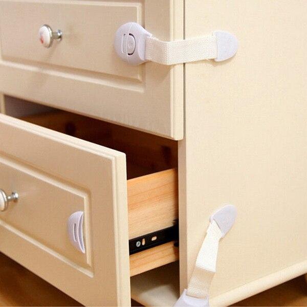 Child Infant Toddler Cabinet Safety Fridge Drawer Door Cupboard Locks Baby Kids Multifunction Lockable High Quality New