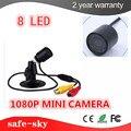 Cctv Mini Câmera 1080 p não Con Luz Vermelha Dia/night Vision Ir Bala de Vigilância de Vídeo Ao Ar Livre À Prova D' Água câmera