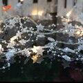 Белая звезда фея огни строки гирлянда праздник света chiildren партии весенний сад фонари на батарейках 3 В AA закрытый