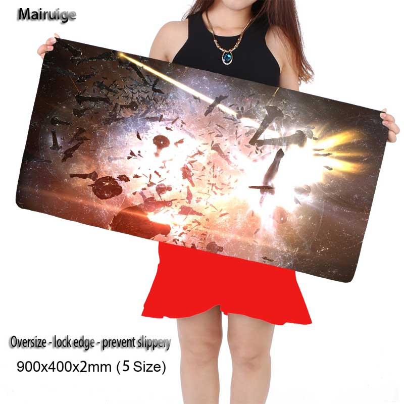 Mairuige 900*400*2mm Eve Online Original Design Computer Speed Mouse Pads Gaming Mouse Pad Rubber Gamer Soft Comfort Mouse Mat