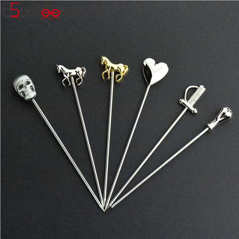 BalleenShiny Bar Spoons Stainless Steel Long Cocktail Swizzle Sticks Barware Fruit Muddlers Drinking Tools Bar Accessories