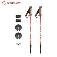 Pole Crutch Telescopic-Alpenstock Walking-Stick Trek Shooting Hiking Nordic Aluminum-Alloy