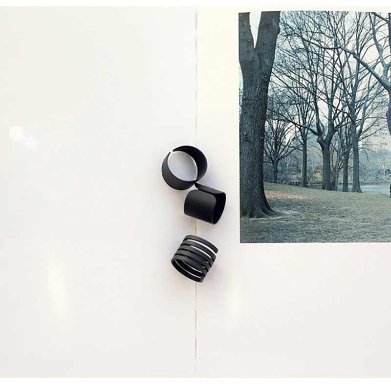 PUNK Knuckle แหวนชุดผู้หญิง Hollow โลหะสีดำแหวนนิ้วกลางเครื่องประดับปรับ 3 ชิ้น/เซ็ต