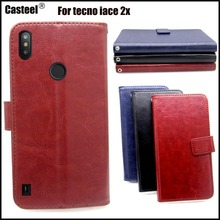 Casteel Classic Flight Series high quality PU skin leather case For Tecno Camon iAce 2x iace2x Case Cover Shield