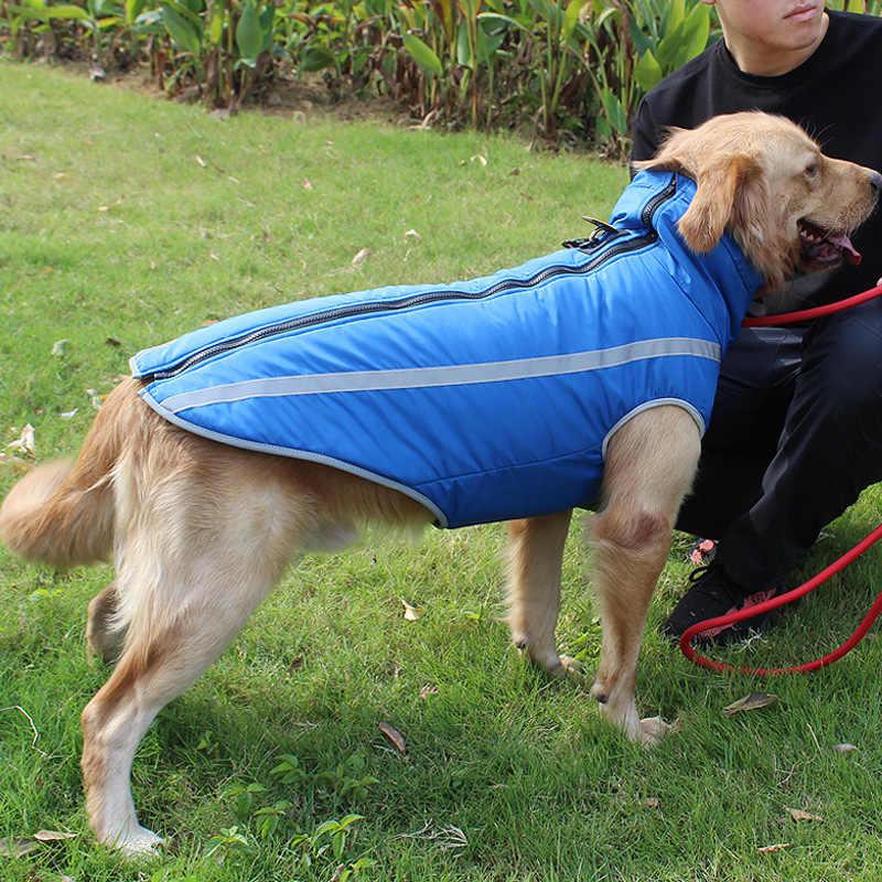 Chó lớn Áo Mưa Chống Thấm Nước Chó Đuôi Nơ Áo Cho Chó Lớn Ngoài Trời Thú Cưng thu Áo Mưa Bộ Đội Xanh Dương Hưu Vàng Husky WLYANG