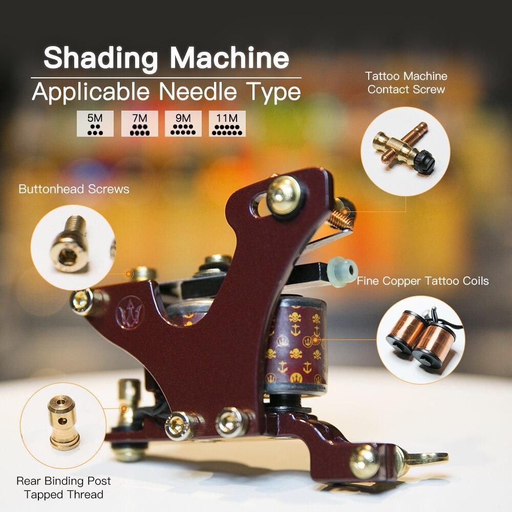 Top Quality Shading Tattoo Machine Artistlegering Frame Wrap Coils - Tatuering och kroppskonst - Foto 2
