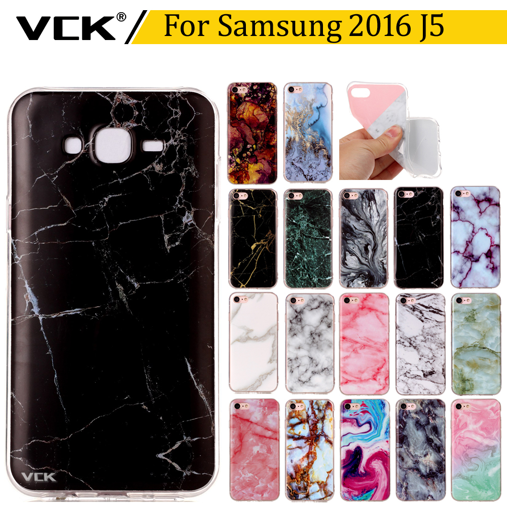 VCK For Samsung Galaxy <font><b>2016</b></font> <font><b>J5</b></font> J510 <font><b>2016</b></font> 5.2 inch Silicone Soft TPU Granite Marble Pattern Painted Shell Back <font><b>Phone</b></font> <font><b>Case</b></font> Cover