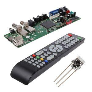 Image 2 - DVB S2 DVB T2 DVB C cyfrowy sygnał ATV klon sterownik LCD pilot płyta sterowania Launcher uniwersalny podwójny USB Media QT526C V1.1