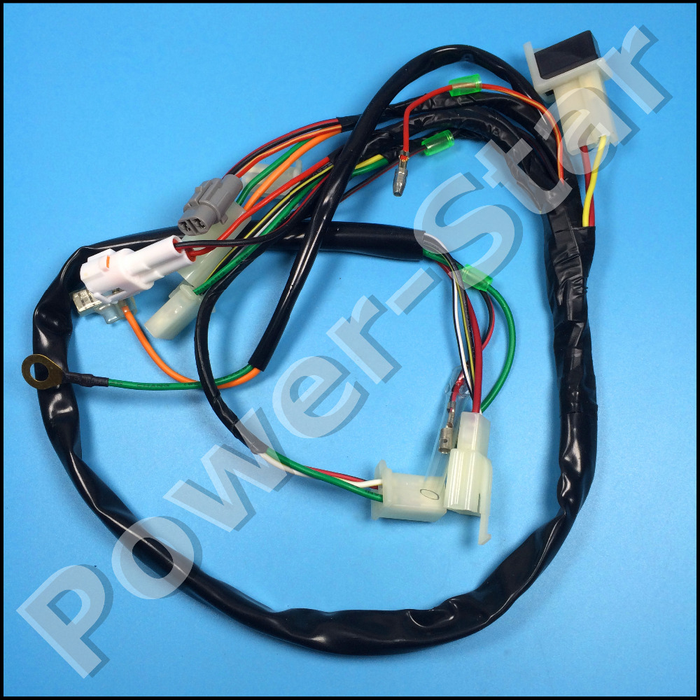 PW50 PY50 WIRE HARNESS WIRING ASSEMBLY For Yamaha PW 50 50CC Dirt Bike aliexpress com buy pw50 py50 wire harness wiring assembly for Wiring Harness Diagram at creativeand.co