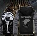 Hot New Game of Thrones Stark Direwolves JiaRong Inverno Velo Camisolas Dos Homens Hoodie Do Logotipo Frete Grátis