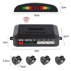4 probe wireless parking radar LED Parking Sensor Universal Wireless Rear Reverse Backup Car Parking Radar Monitor Detector