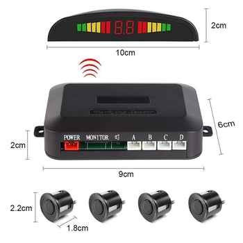 цена на 4 probe wireless parking radar LED Parking Sensor Universal Wireless Rear Reverse Backup Car Parking Radar Monitor Detector