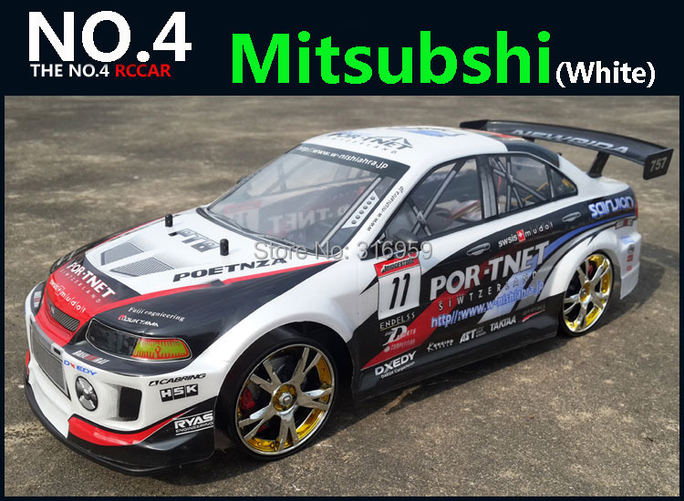 ФОТО Large 1:10 RC Car High Speed Racing Car 2.4G Mitsubishi 4 Wheel Drive Radio Control Sport Drift Racing Car Model electronic toy