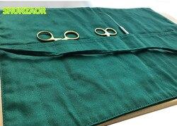 30cm * 40cm pojedyncza tkanina dwurzędowa 10 siatka szew praktyka chirurgiczna torba na narzędzia dla studentów medycyny użyj materiel medical