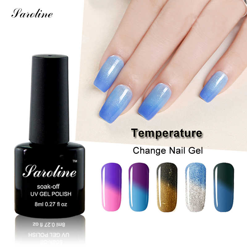 Chameleon Temperature Change Nail Color UV Gel Nail Polish Semi-permanent Thermo Varnish Soak Off Mood Nail Polish Gel Lacquer