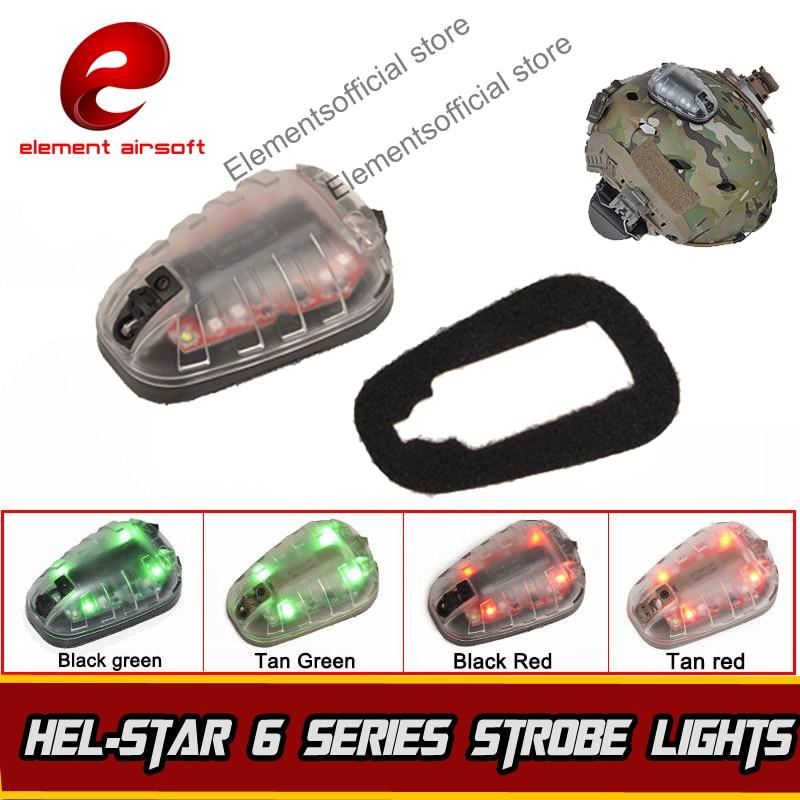 Element HEL-STAR 6 Signal Green Red IR Lamp Softair Wapens Arsoft Armas Helmet Waffen Lantern For Hunting Tactical Strobe Light спот globo grosetto 5730 1w
