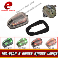 Element HEL STAR 6 Signal Green Red IR Lamp Softair Wapens Arsoft Armas Helmet Waffen Lantern For Hunting Tactical Strobe Light