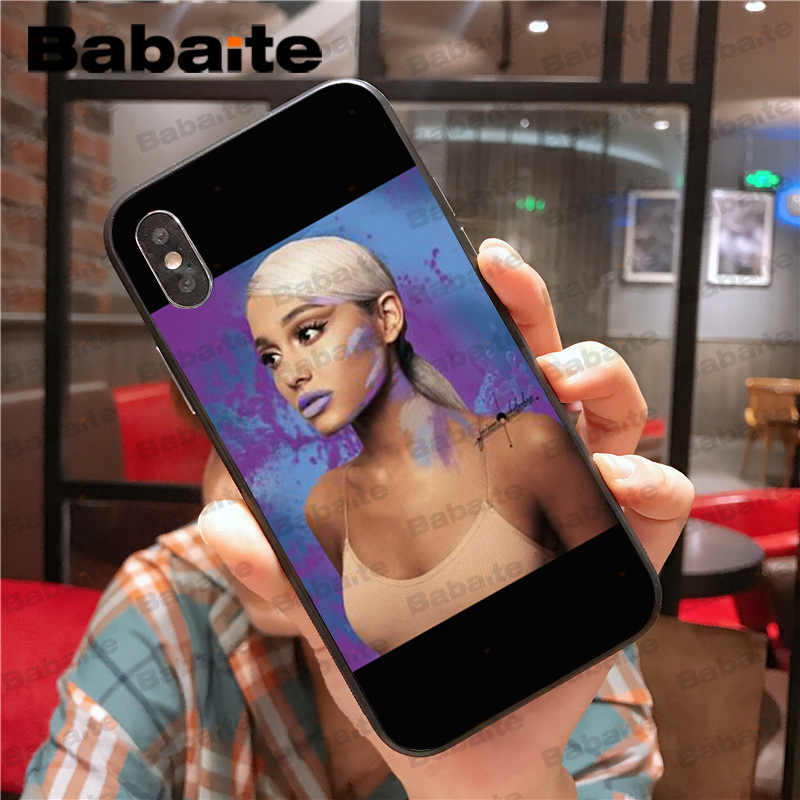Babaite Ariana Grande God es una funda de silicona suave TPU para iPhone 5 5S 6 7 7 8 8 plus X XS X MAX XR coque caso