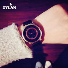 ZYLAN Luxury Simple Bling Dial Japan Movt Genuine Leather Quartz Wedding Wristwa