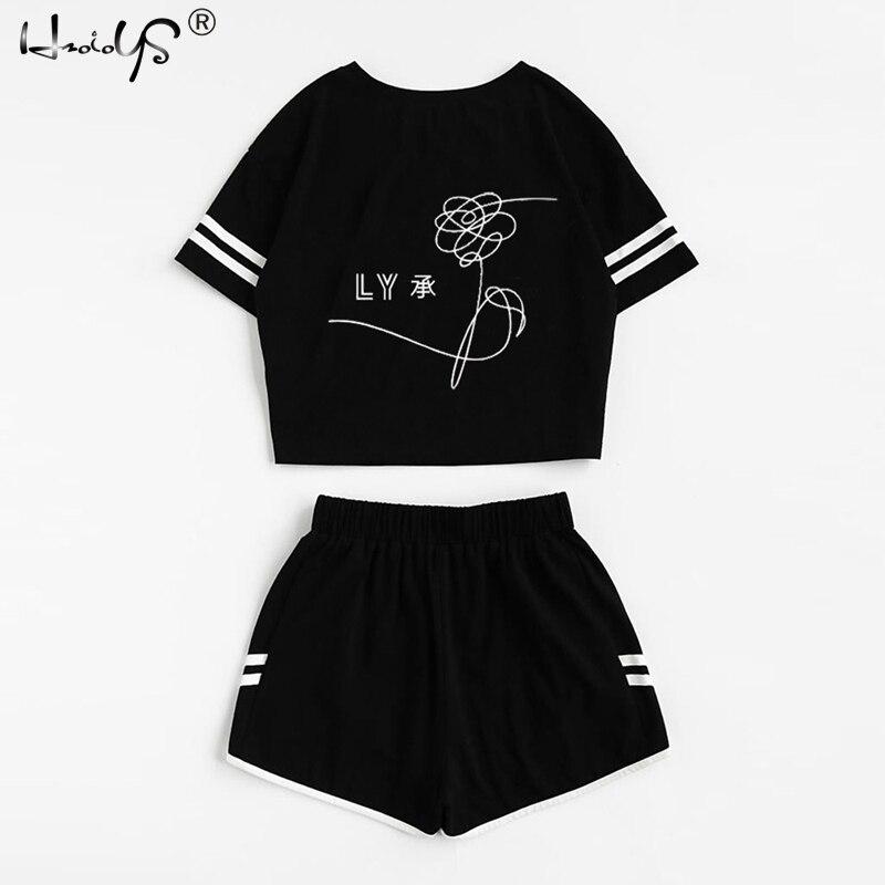 New Style Exposed Navel   Pajamas     Sets   Women Two Piece Pyjamas   Sets   Summer Sleepwear Short Sleeve Top and Shorts   Set   Home Clothing