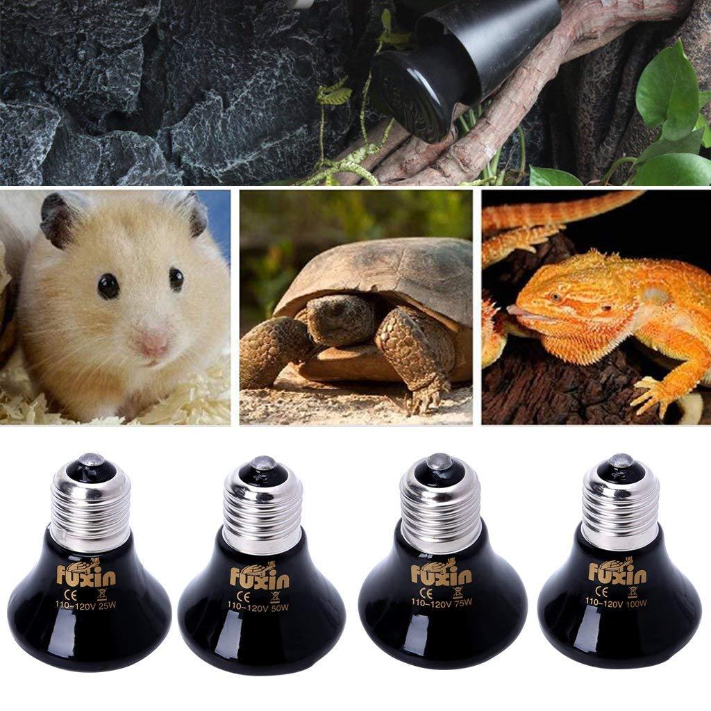 Pet Ceramic Heating Lamp Infrared Amphibian Snake Tortoise Lamp Heat Reptile Bulb Light 25W 50W 75W 100W AC110-120V 220-230 E27 pet light infrared ceramic heat emitter lamp bulb for reptile amphibian warmer glow brooder 100w new