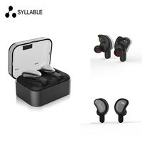 Syllable D9 TWS Bluetooth Earphone True Wireless Stereo Earbud Waterproof Bluetooth Headset For Phone HD Communication