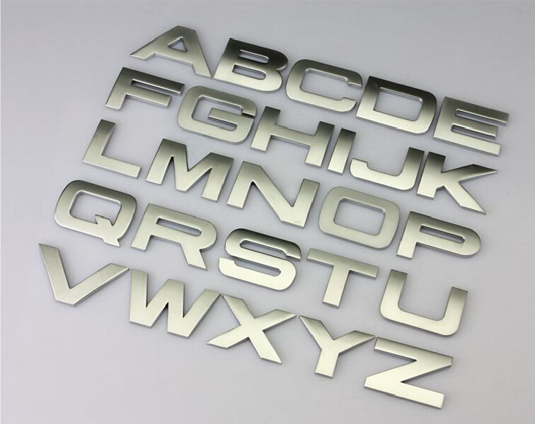 3d letter english letters stickers metal stickers decals for automobile car logo badge emblem brands diy car styling refit parts on aliexpress com alibaba