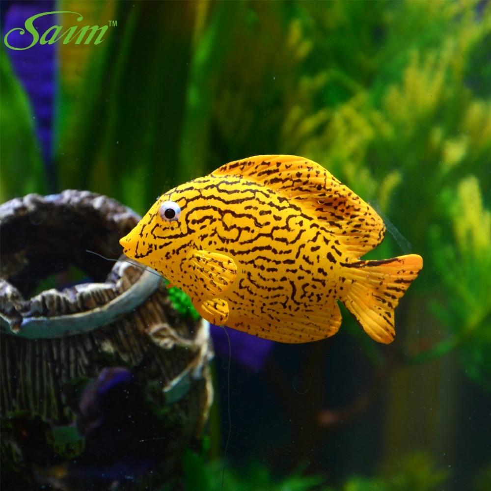 Aquarium Artificial Fish Decor Floating Tiger Pattern Fake