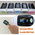 Alarm setting and Beep Sound OLED display Fingertip Pulse Oximeter, Blood Oxygen SpO2 saturation oximetro monitor