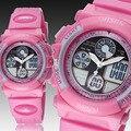 Дети Часы Ohsen бренд электронные девочек милый розовый СВЕТОДИОДНЫЙ Цифровой кварцевые наручные часы 30 М силиконовый ремешок Детский мультфильм смотреть подарки