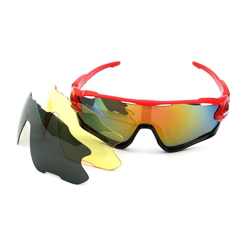 8c95bacc94 Gafas de sol de Ciclismo polarizadas Gafas de bicicleta de montaña 3 lentes  para deportes al aire libre Gafas de montar en bicicleta MTB Gafas de  Ciclismo ...