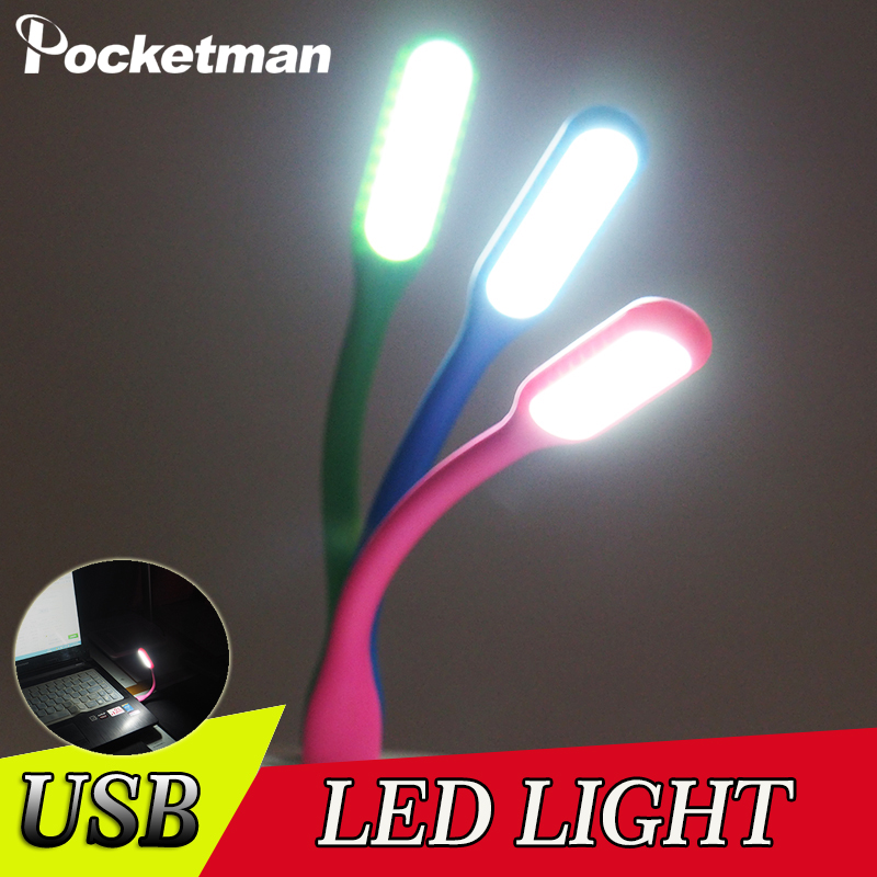 5 Colors USB Mini LED Night Light Book Light Mini USB LED Light Power Bank Reading Light Notebook Portable LED Lamp