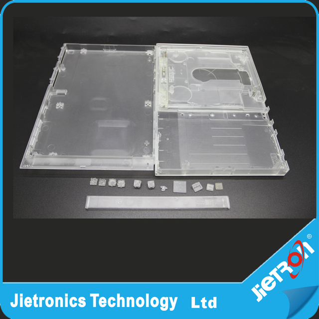 Clear white 7000X full housing shell case for PS2 slim console Full Housing  Shell Case cover from jietron with top quality-in Cases from Consumer
