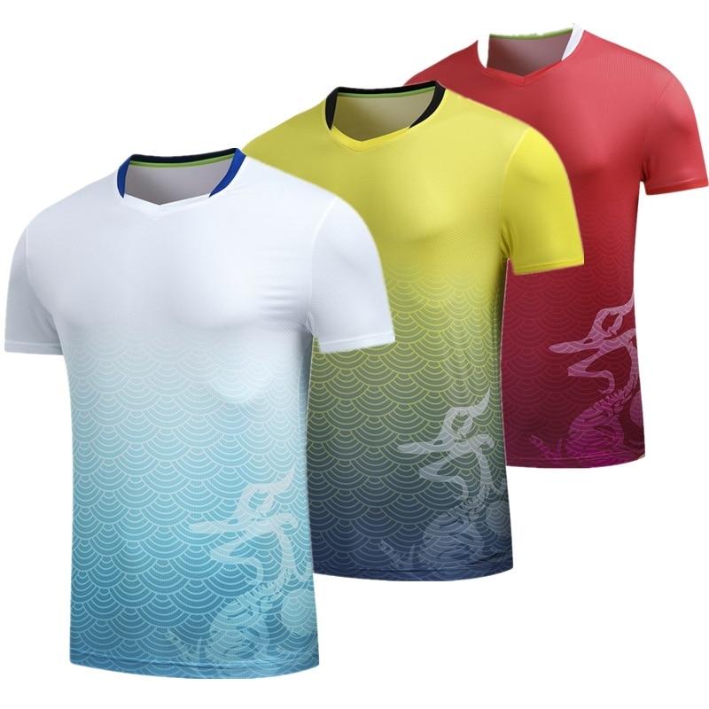 Sportbekleidung Aikutami Tischtennis Kleidung Sport Shirts Gedruckt Quick Dry Atmungsaktiv Tennis Trikots Fitness Running Shirt Badminton Ma Lange