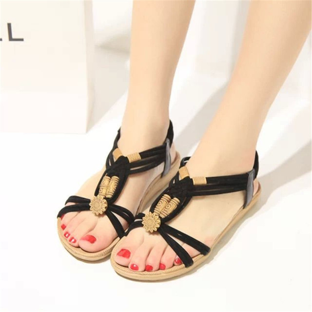 New Women Summer Sandals Women Shoes Bohemia Gladiator Beach Flat Casual Sandals Leisure Female Ladies Women Slip On Sandalias