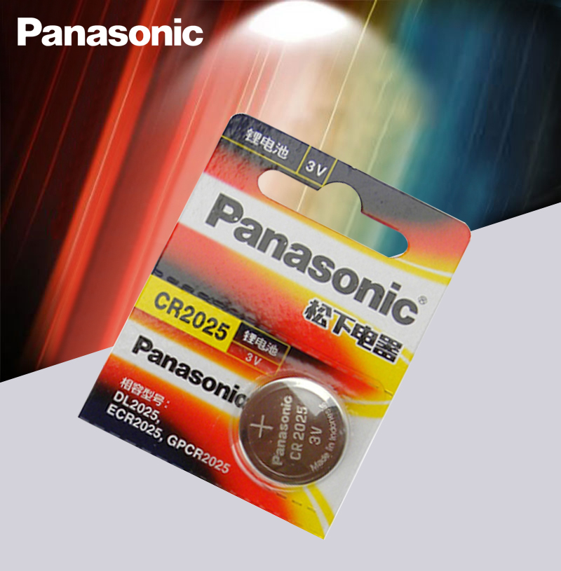 Panasonic Original <font><b>cr2025</b></font> Button Cell <font><b>Batteries</b></font> <font><b>cr2025</b></font> 3V Lithium Coin <font><b>Battery</b></font> For Watch Calculator Weight Scale image