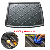 Car Rear Trunk Mat Cargo Tray Boot Liner Carpet Protector Floor For VW Volkswagen Golf R32 5 6 GTI R32 Hatchback 2006 2014