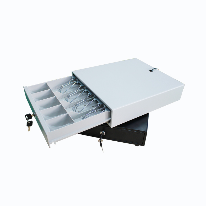 Small Cash Drawer 335 Thermal Printer White Black Cash Coin Register Insert Tray Replacement Tray Box Classify Organizer