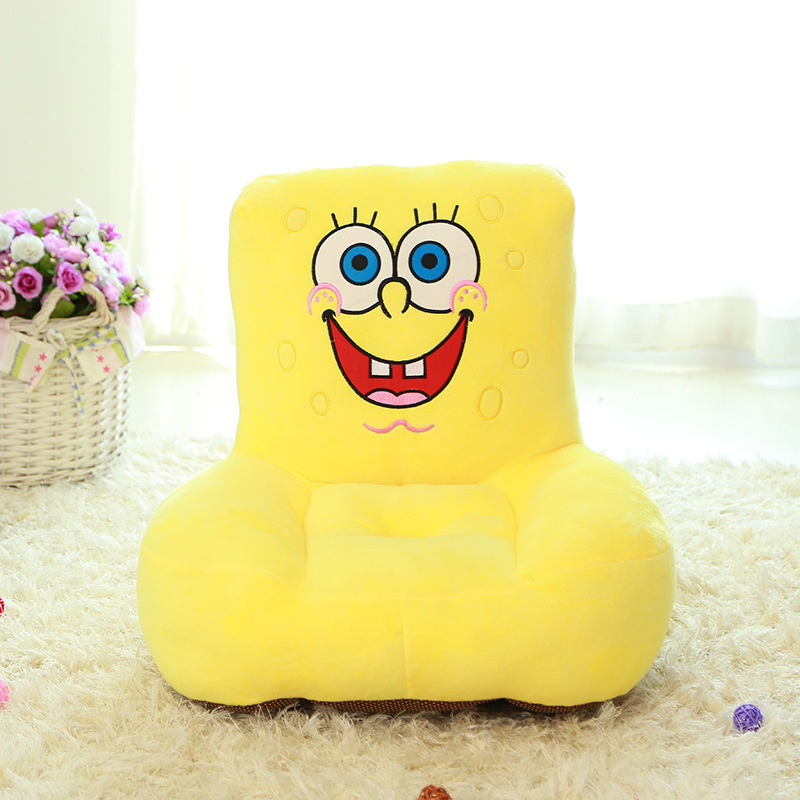 new plush laughing SpongeBob sofa toy creative stuffed SpongeBob sofa tatami gift about 55x50cm 0345 stuffed lovely blue cat children sofa toy cartoon plutus cat tatami sofa toy gift about 50x45cm