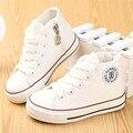 Kids shoes para a menina crianças lona shoes meninos sapatilhas meninas 2017 primavera outono shoes branco sólido de alta moda crianças shoes