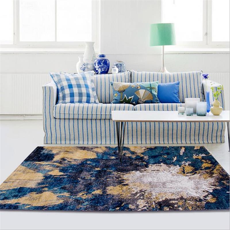Пост-современный полипропиленовые ковры для Гостиная Кофе столик диван ковры Домашний Декор коврики для Спальня исследование пол Коврики