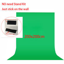 No Need Stand Kit 2x2meter Non Woven Black Green White Photo background for Studio Screen Chroma key Background Backdrop