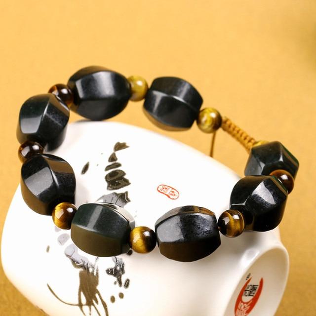 Высококачественный призматический браслет китайский нефритовый