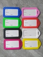 купить 10pcs/lot Travel Accessories Luggage Tag Suitcase ID Address Holder Baggage Boarding Tags Portable Label Wholesale по цене 177.53 рублей