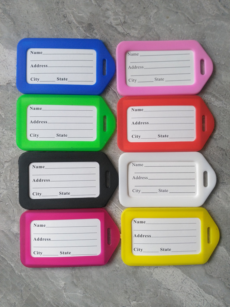 30pcs/lot Travel Accessories Luggage Tag Suitcase ID Address Holder Baggage Boarding Tags Portable Label Wholesale