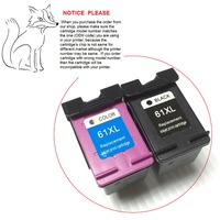 5sets 10pcs Ink Cartridge For Hp 61 XL CH563WN CH564WN For HP ALL IN One Printers
