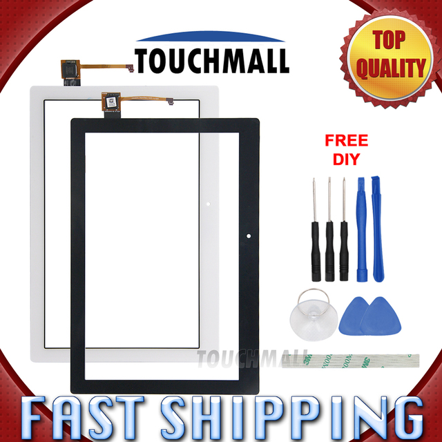 For New Touch Screen Digitizer Glass Replacement Lenovo Tab 2 A10-70 A10-70F A10-70L 10.1-inch Black White Free Shipping