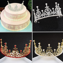 Baroque Retro Luxury Pearl Crystal Gold Crown Bridal Wedding Jewelry Rhinestone Hot Tiaras Crowns Pageant Dress Hair Accessories